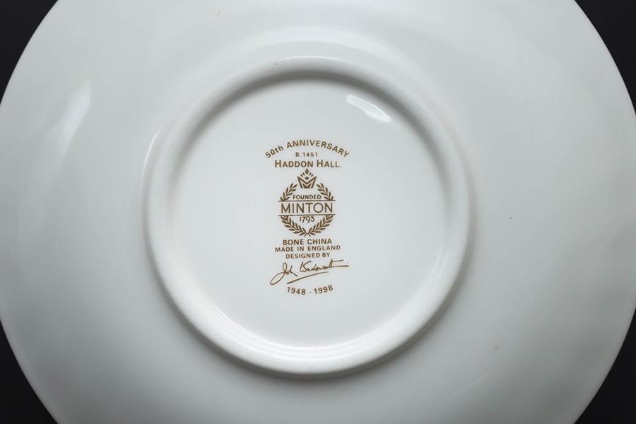 ミントン ハドンホール ティーカップ&ソーサー(50周年記念)