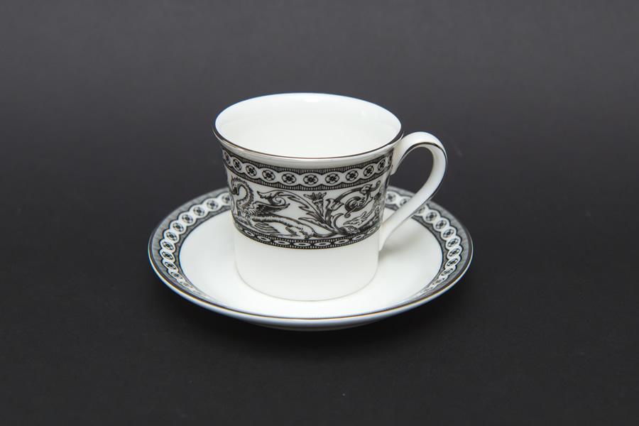 ウェッジウッド コントラスト フロレンティーン デミタスカップ&ソーサー