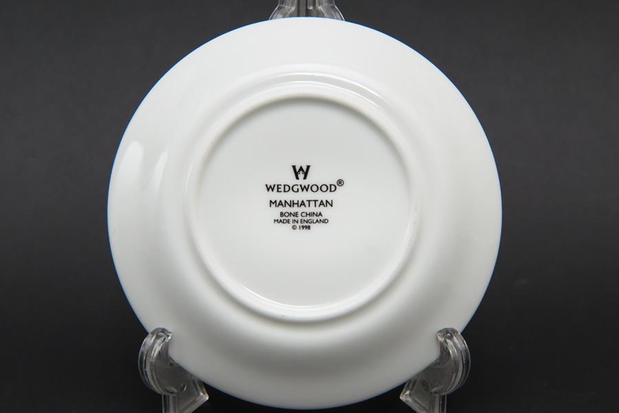 ウェッジウッド マンハッタン デミタスカップ&ソーサー