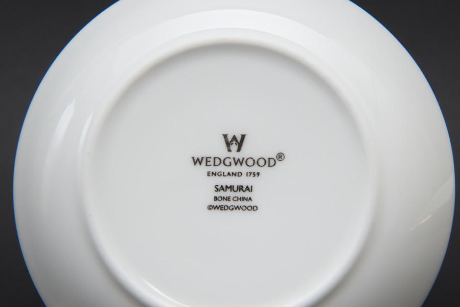 ウェッジウッド サムライ ジャパニーズティーカップ&プチトレイ