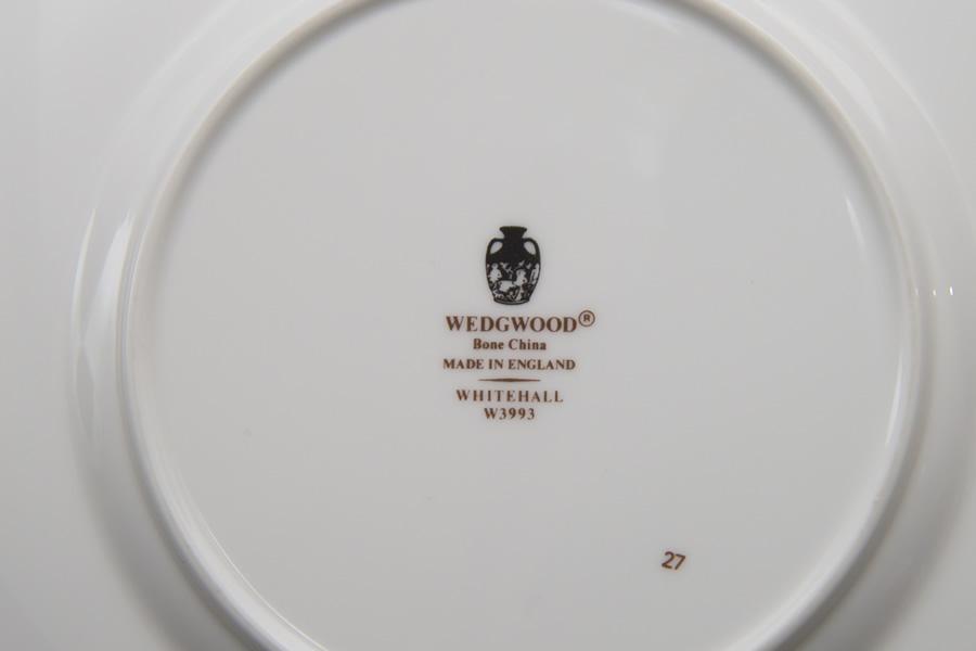 ウェッジウッド ホワイトホール パウダーブルー トリオ