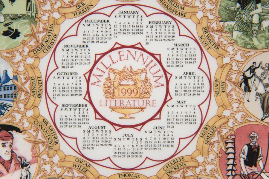 ウェッジウッド カレンダープレート(1999年)