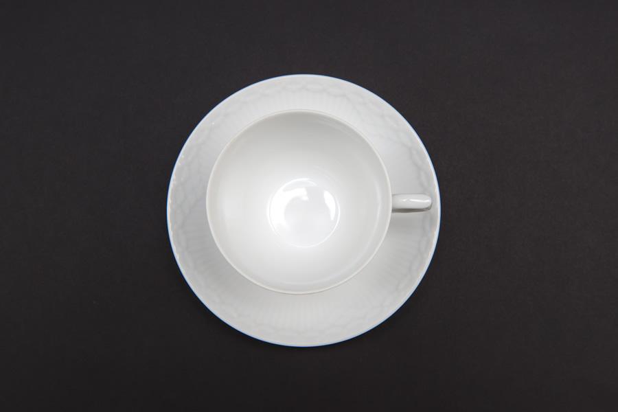 ロイヤル・コペンハーゲン ホワイトフルーテッドハーフレース コーヒーカップ&ソーサー