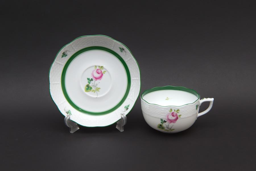 ヘレンド ウィーンの薔薇 ティーカップ&ソーサー