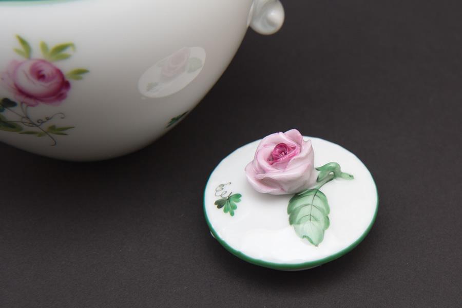ヘレンド ウィーンの薔薇 ミニティーポット(400ml)