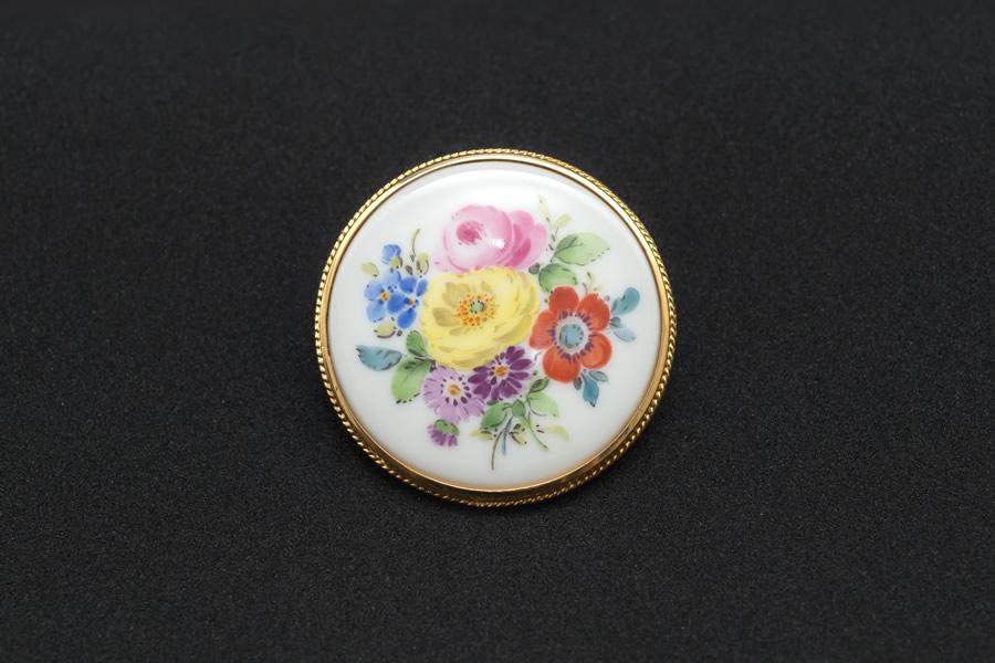 マイセン ベーシックフラワー(五つ花)ブローチ
