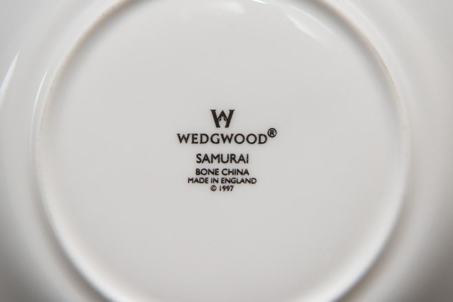 ウェッジウッド サムライ ティーカップ&ソーサー(デルフィ)