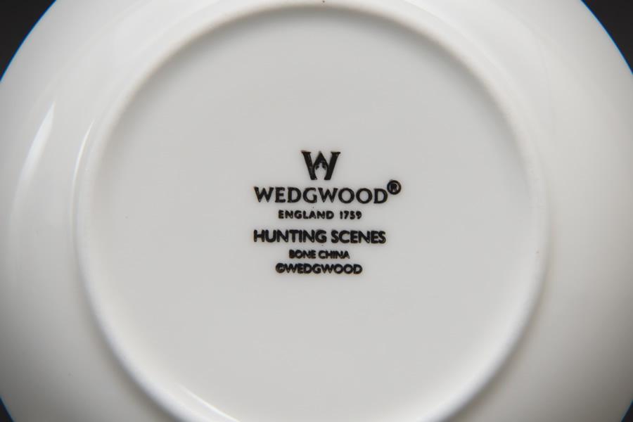 ウェッジウッド ハンティングシーン ジャパニーズカップ&プチトレイ ペア