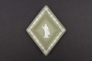 ウェッジウッド ジャスパー セージグリーン 菱形トレイ