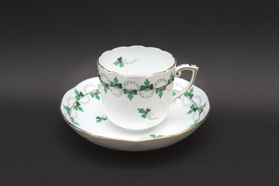 ヘレンド パセリグリーン コーヒーカップ&ソーサー