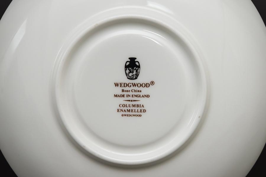 ウェッジウッド コロンビアエナメル ティーカップ&ソーサー(リー)