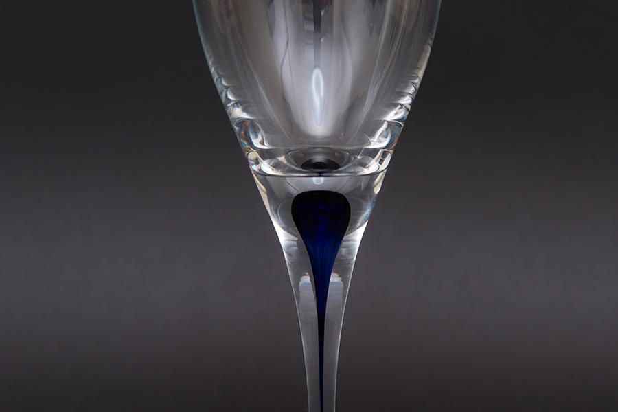 オレフォス インターメッツォ ホワイトワイングラス(ブルー) ペア