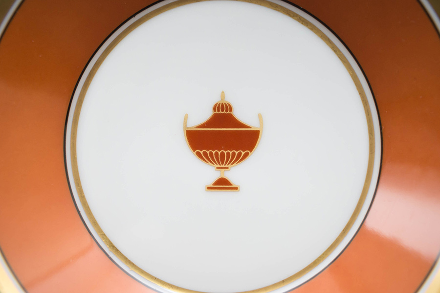 リチャード・ジノリ コンテッサ デミタスカップ&ソーサー(オレンジ)