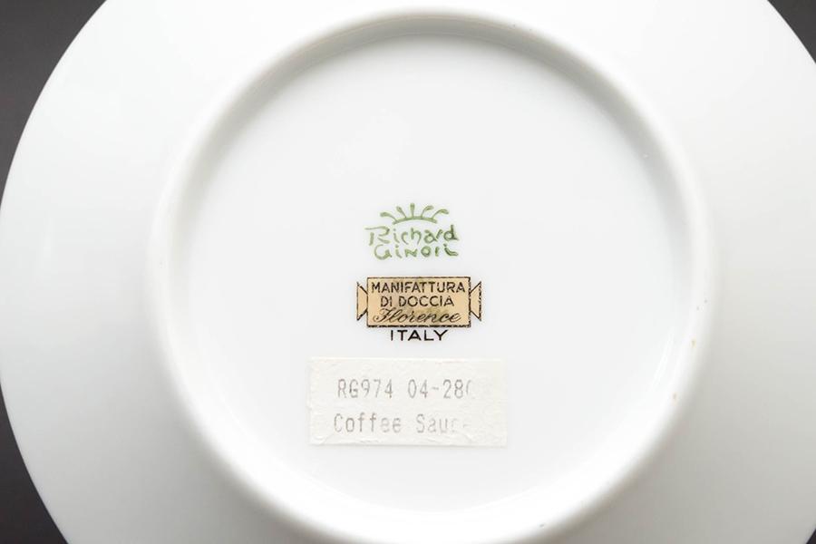 リチャード・ジノリ コンテッサ デミタスカップ&ソーサー(グリーン)