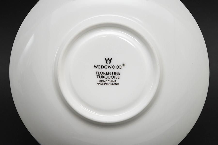 ウェッジウッド フロレンティーンターコイズ ティーカップ&ソーサー(ピオニー)