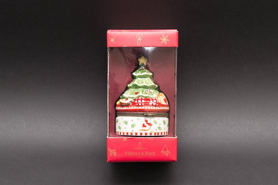 ビレロイ&ボッホ ウィンターベーカリーデコレーションクリスマスツリー型小物入れ