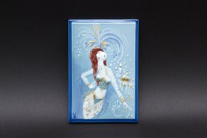 マイセン 陶板画『王冠の門と踊り子』