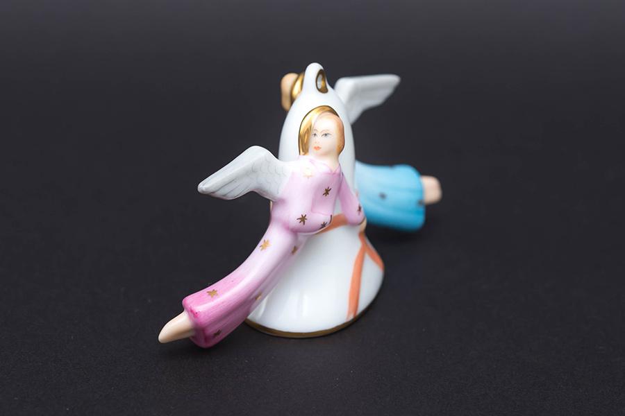 ヘレンド 天使とベル オーナメント