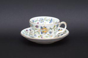 ミントン ハドンホールブルー ティーカップ&ソーサー(50周年記念)