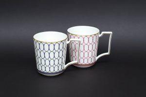 ウェッジウッド ルネッサンスゴールド マグカップ ペア(ブルー&ピンク)