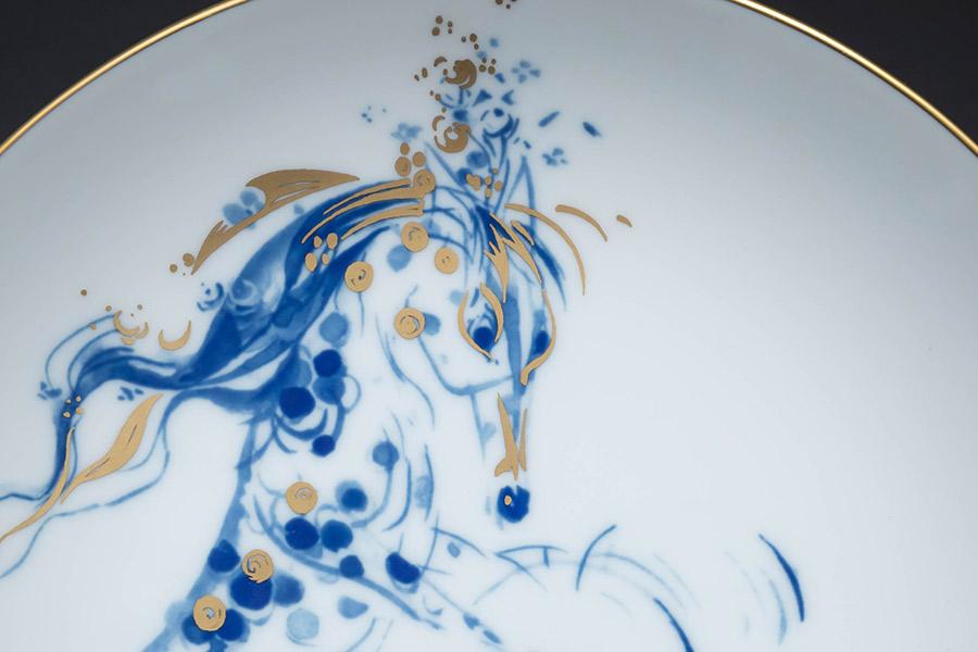 マイセン 干支プレート(2002年)『シンバルを打ち鳴らす陽気な馬』