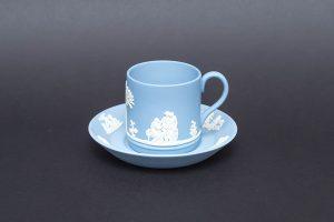 ウェッジウッド ジャスパー デミタスカップ&ソーサー(ペールブルー)
