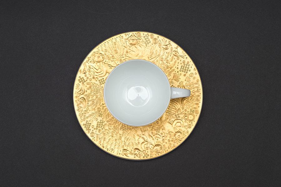ローゼンタール 魔笛(ゴールド) コーヒーカップ&ソーサー