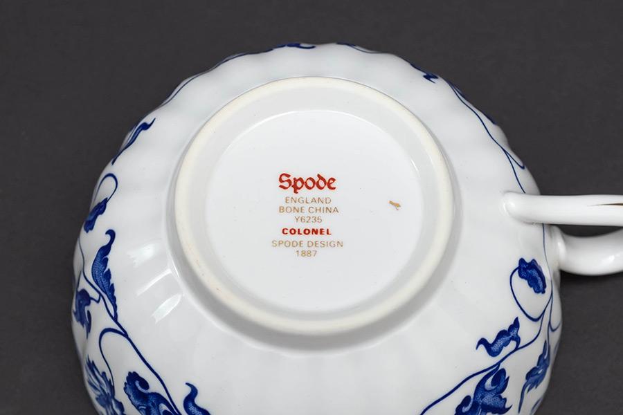 スポード ブルーコロネル ティーカップ&ソーサー
