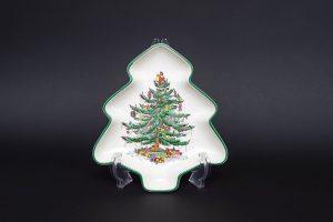 スポード クリスマスツリー ツリー型プレート