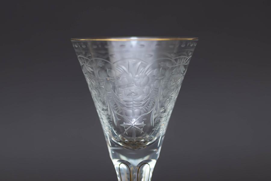 モーゼル マハラニ(ゴールド) ワイングラス