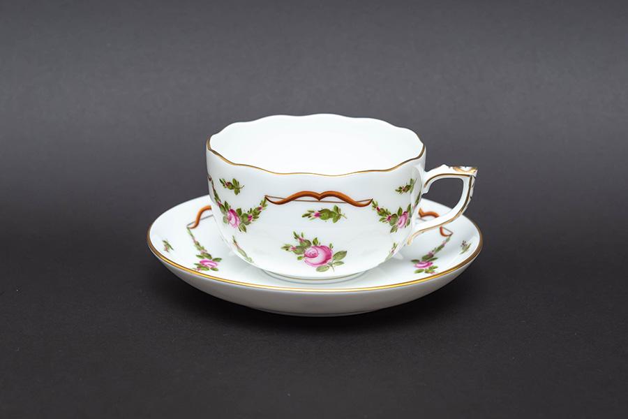 ヘレンド ディアナの薔薇 ティーカップ&ソーサー