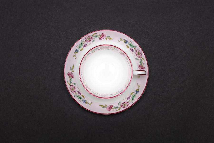 ミントン ハドンホール セレブレーション(ピンク) ティーカップ&ソーサー