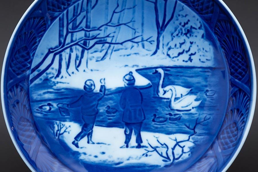 ロイヤル・コペンハーゲン イヤープレート(1987年)『Winter Birds(冬鳥)』