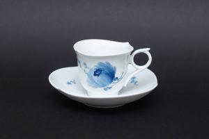 マイセン 青い花 モカカップ&ソーサー