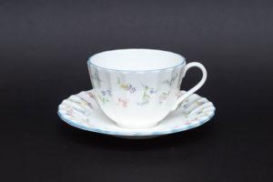 ロイヤル・ウースター フォーゲットミーノット(忘れな草) ティーカップ&ソーサ