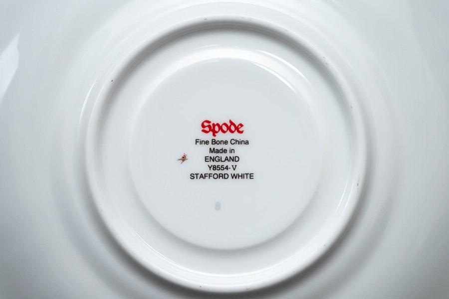 スポード スタッフォードホワイト ティーカップ&ソーサー