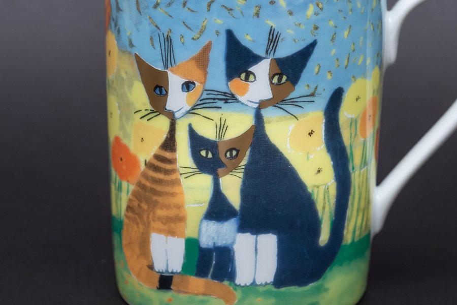 ゲーベル ロジーナキャット『Famiglia di Gatti(猫の家族)』 マグ