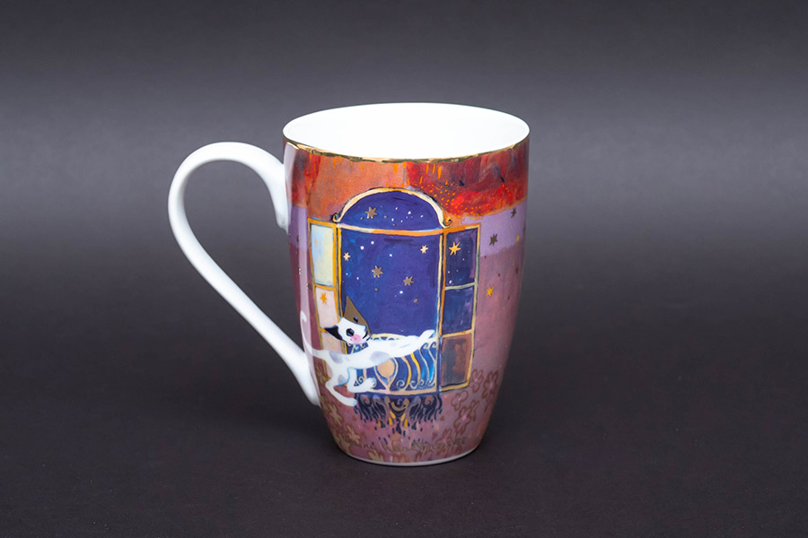 ゲーベル ロジーナキャット『Amici della Luna(月のともだち)』 ラージマグ