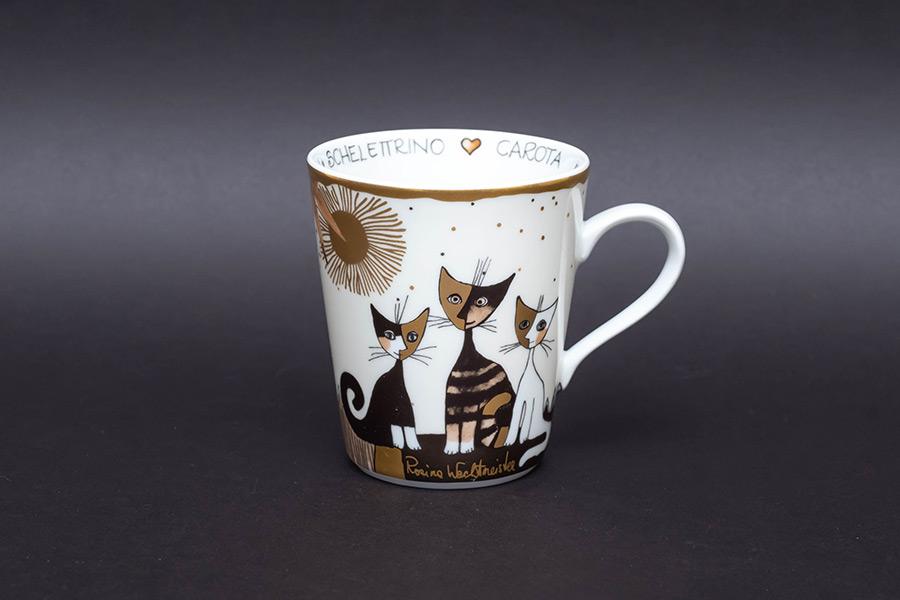 ゲーベル ロジーナキャット 猫たちの名前が書かれたマグ