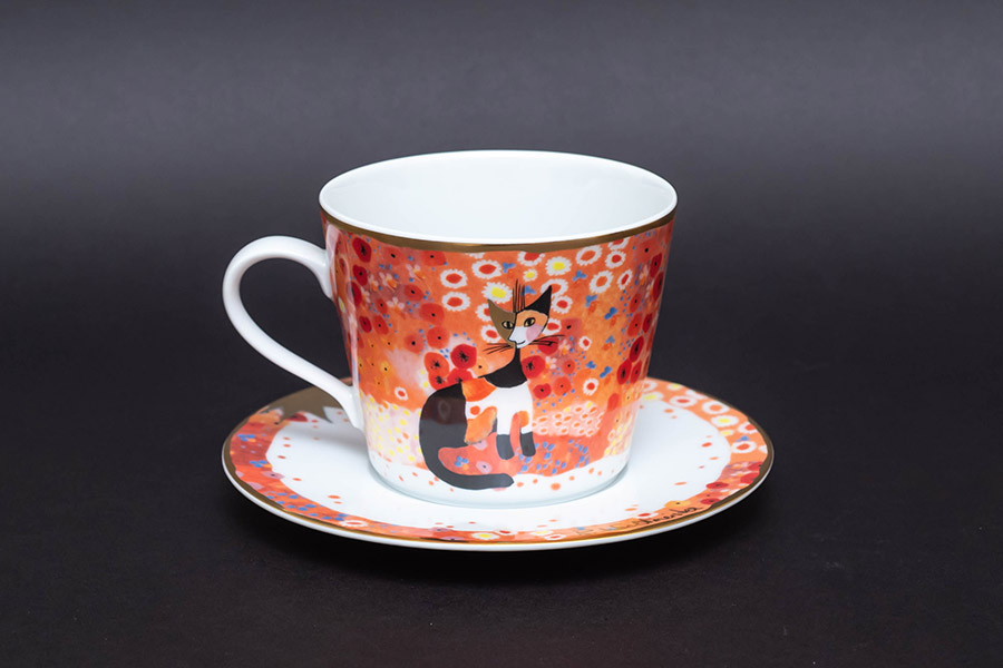 ゲーベル ロジーナキャット 『Prato di fiori(花の牧草地)』ティーカップ&ソーサー