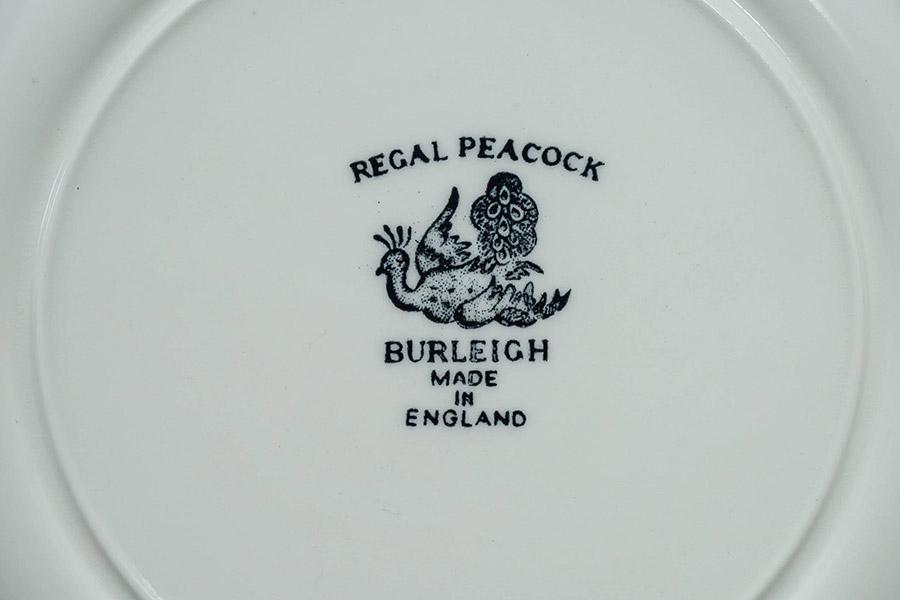 バーレイ ブラック・リーガル・ピーコック 22cmプレート