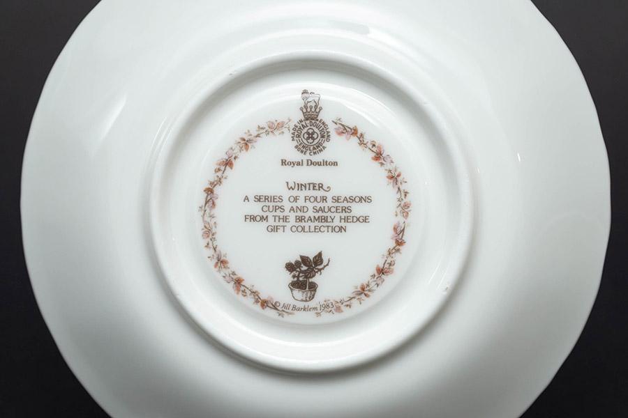 ロイヤル・ドルトン ブランブリーヘッジ フォーシーズン(ウィンター) ティーカップ&ソーサー