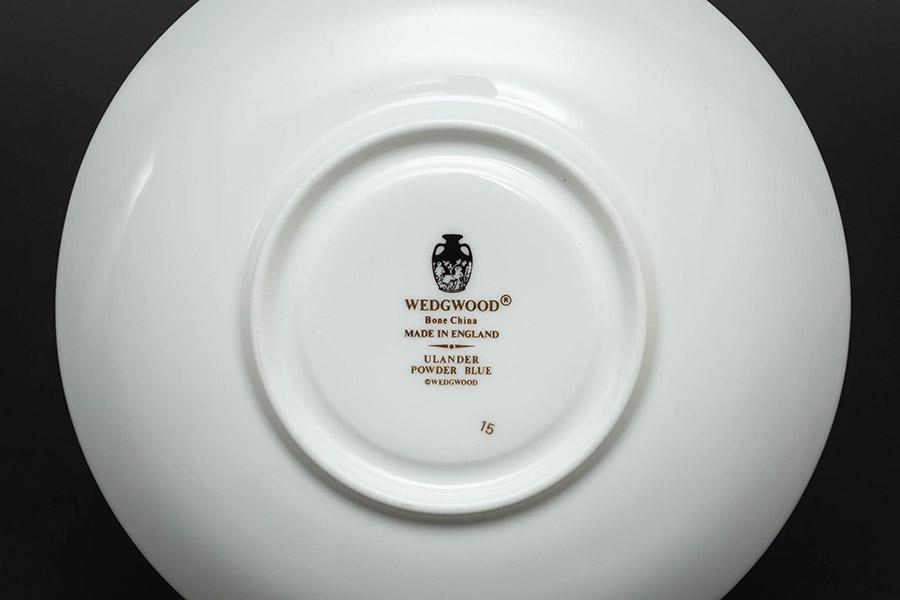 ウェッジウッド ユーランダーパウダーブルー ティーカップ&ソーサー(リー)