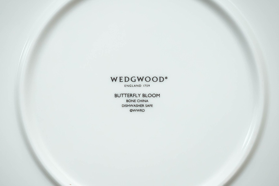 ウェッジウッド バタフライブルーム 20cmプレート(4枚セット)