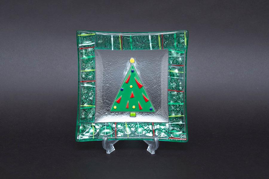 ゴーハム クリスマス スクエアプレート(2枚セット)