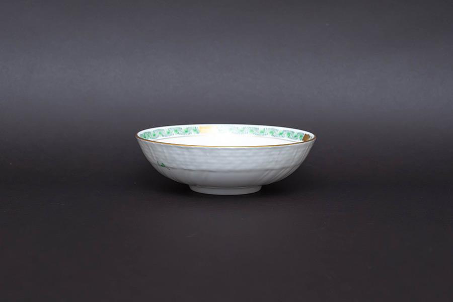 ヘレンド アポニー・グリーン 13cmボウル(175周年記念ロゴ)