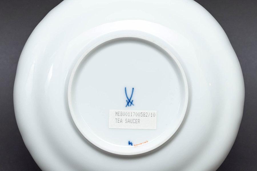 マイセン ブルーオニオン(レッド&ゴールド) ティー/コーヒー兼用カップ&ソーサー