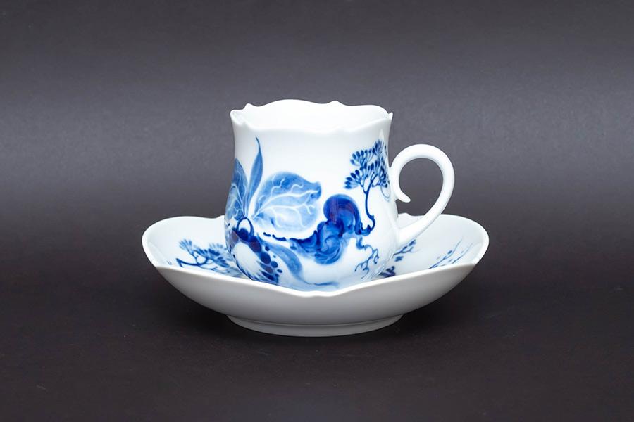 マイセン ブルーオーキッド コーヒーカップ&ソーサー