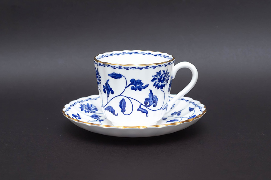 スポード ブルーコロネル コーヒーカップ&ソーサー