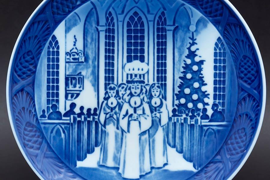 ロイヤル・コペンハーゲン イヤープレート(1991年)『The Festival of Santa Lucia(サンタルチア)』